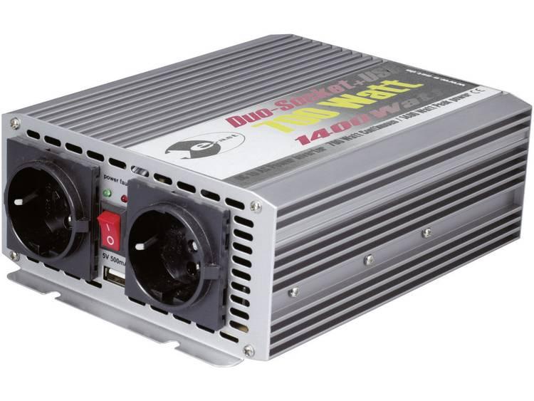 Omvormer e-ast CL700-D-24 700 W 24 V-DC 24 V-DC (22 28 V) Schroefklemmen Geaarde contactdoos, Euro-s