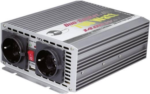 e-ast CL700-D-24 Omvormer 700 W 24 V/DC 24 V/DC (22 - 28 V) Schroefklemmen USB-aansluiting, Randaarde contactdoos
