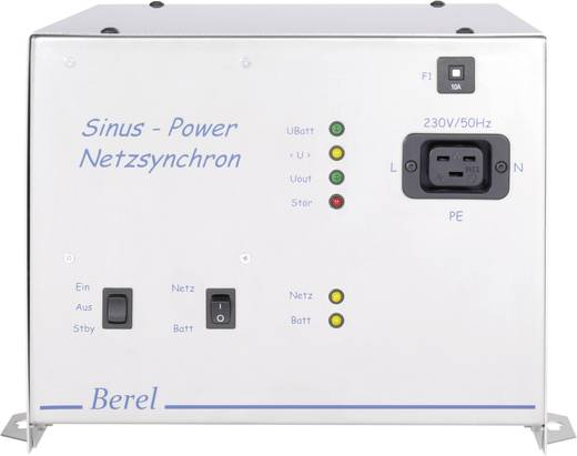Berel NUS2000/12/TI Omvormer 2000 W 12 V/DC 12 V/DC UPS-functie, Netwerksynchronisatie Schroefklemmen AC Europa-stekker