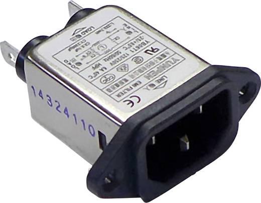 Yunpen YB06T1 Netfilter Met IEC-connector 250 V/AC 6 A 0.7 mH 1 stuks