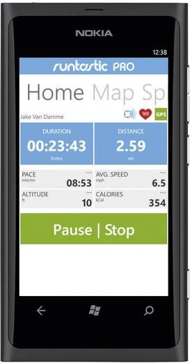 GPS-horloge met borstband Runtastic RUNGPS1 Gecodeerd Zwart
