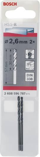 Bosch Accessories 2608596787 HSS Metaal-spiraalboor 2.6 mm Gezamenlijke lengte 57 mm rollenwals DIN 338 Cilinderschach