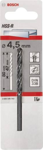 Bosch 2608596793 HSS Metaal-spiraalboor 4.5 mm Gezamenlijke lengte 80 mm rollenwals DIN 338 Cilinderschacht 1 stuks