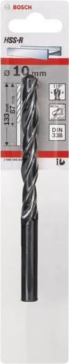 Bosch Accessories 2608596804 HSS Metaal-spiraalboor 10 mm Gezamenlijke lengte 133 mm rollenwals DIN 338 Cilinderschach