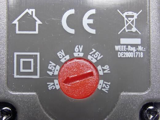 VOLTCRAFT USPS-600 green Stekkernetvoeding, instelbaar 3 V/DC, 4.5 V/DC, 5 V/DC, 6 V/DC, 7.5 V/DC, 9 V/DC, 12 V/DC 600 mA 7.2 W