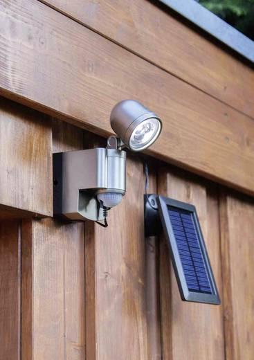 Solarspot met bewegingsmelder 3 W Koud-wit GEV 014817 Champagne