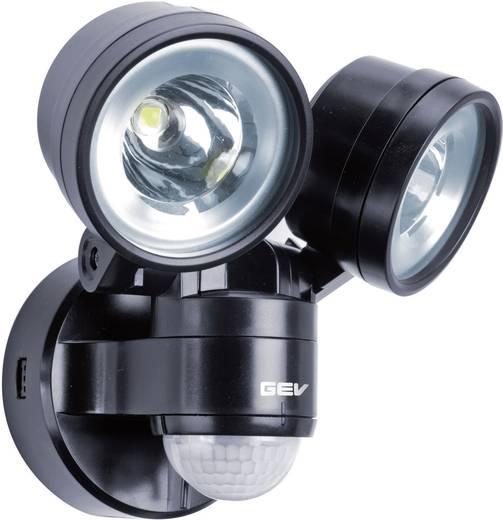GEV Duo LLL 14718 014718 LED-buitenschijnwerper met bewegingsmelder 8 W Neutraal wit Zwart