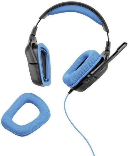 Gaming headset 3.5 mm jackplug Kabelgebonden Logitech Gaming G430 Over Ear Zwart, Blauw