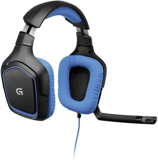 Gaming headset 3.5 mm jackplug Kabelgebonden Logitech Gaming Logitech G430 gamingheadset Over Ear Zwart, Blauw
