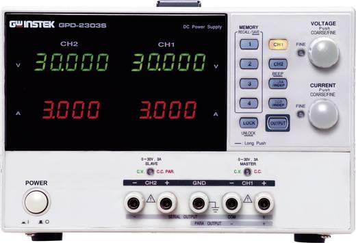 GW Instek GPD-2303S Labvoeding, regelbaar 0 - 30 V/DC 0 - 3 A 180 W USB Op afstand bedienbaar Aantal uitgangen 2 x