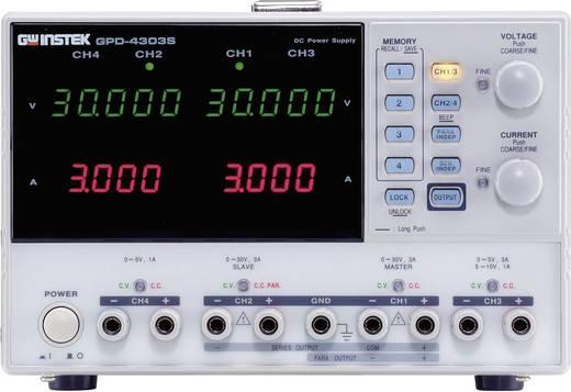 GW Instek GPD-4303S Labvoeding, regelbaar 0 - 30 V/DC 0 - 3 A 195 W USB Op afstand bedienbaar Aantal uitgangen 4 x