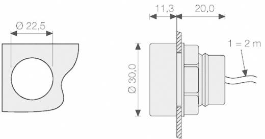 NTC-sensor in de behuizing Fanox OD-T NTC-sensor met 2 m kabel