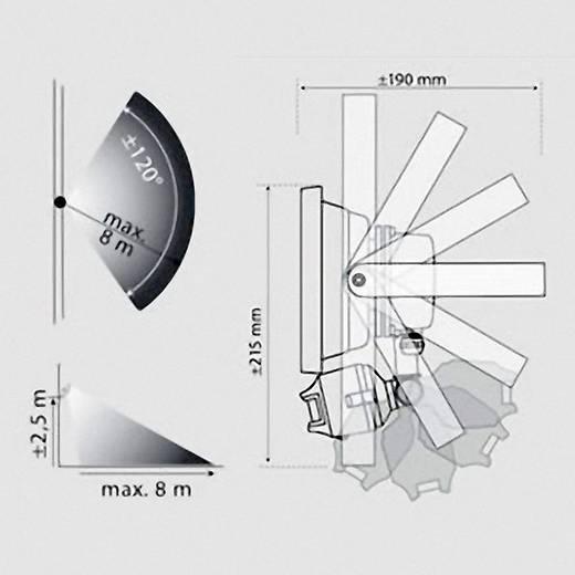 XQ lite XQ-Lite XQ1221 LED-buitenschijnwerper met bewegingsmelder 20 W Daglicht-wit Grijs