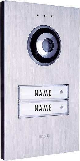 m-e modern-electronics VDV 620 compact Buitenunit voor Video-deurintercom Kabelgebonden 2 gezinswoning RVS