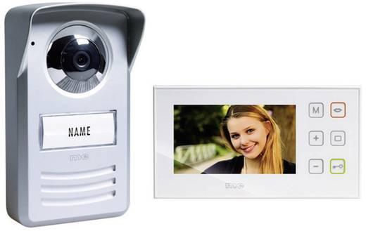 m-e modern-electronics PVD-4410 Complete set voor Video-deurintercom Kabelgebonden Zilver, Wit