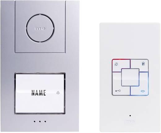 m-e modern-electronics Vistus AD 4010 Complete set voor Deurintercom Kabelgebonden 1 gezinswoning Zilver, Wit