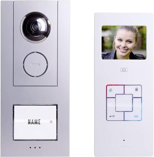 m-e modern-electronics Vistus VD6310 Complete set voor Video-deurintercom Kabelgebonden 1 gezinswoning Zilver, Wit