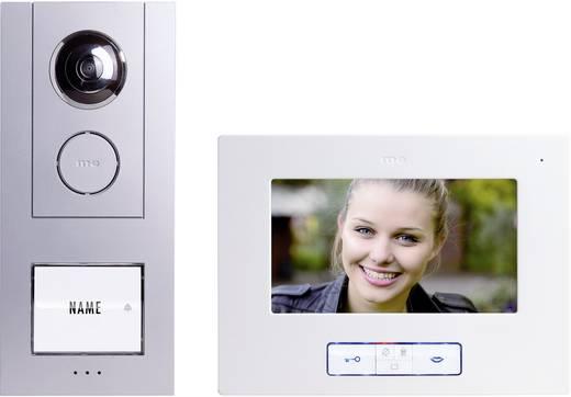 m-e modern-electronics Vistus VD 6710 Complete set voor Video-deurintercom Kabelgebonden 1 gezinswoning Zilver, Wit