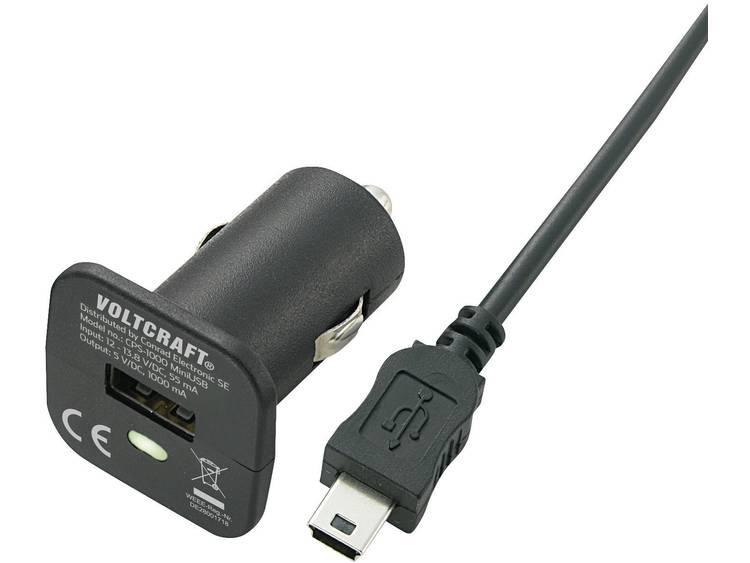 VOLTCRAFT CPS-1000 MiniUSB USB-oplader Autolader Uitgangsstroom (max.) 1000 mA 1 x Mini-USB, USB