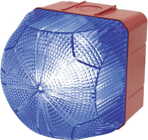 Auer Signalgeräte QDM Signaallamp LED Blauw Blauw Continu licht, Knipperlicht 110 V/AC, 230 V/AC