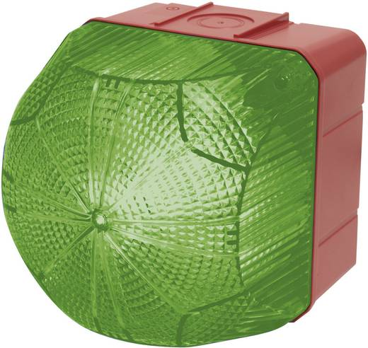 Auer Signalgeräte QDM Signaallamp LED Groen Groen Continu licht, Knipperlicht 110 V/AC, 230 V/AC