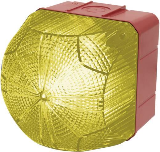 Auer Signalgeräte QDM Signaallamp LED Geel Geel Continu licht, Knipperlicht 110 V/AC, 230 V/AC