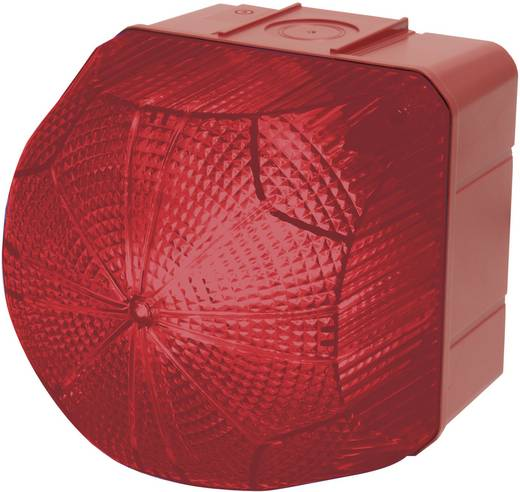 Auer Signalgeräte QDX Signaallamp LED Rood Rood Continu licht, Knipperlicht 24 V/DC, 24 V/AC, 48 V/DC, 48 V/AC