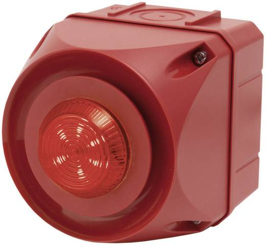 Auer Signalgeräte ADS-T Combi-signaalgever Rood Continu licht, Knipperlicht 230 V/AC 108 dB