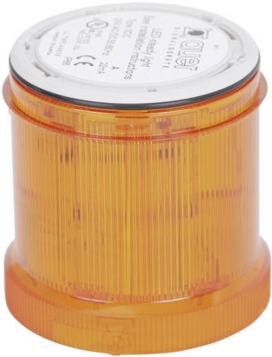 Auer Signalgeräte 900001900 Signaalzuilelement Oranje Continu licht 12 V/DC, 12 V/AC, 24 V/DC, 24 V/AC, 48 V/DC, 48 V/AC, 110 V/AC, 230 V/AC