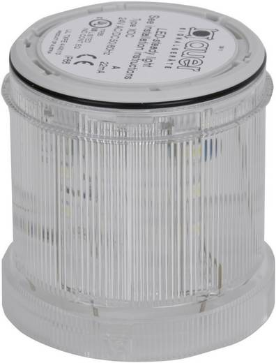 Auer Signalgeräte 900054405 Signaalzuilelement Wit Continu licht 24 V/DC, 24 V/AC