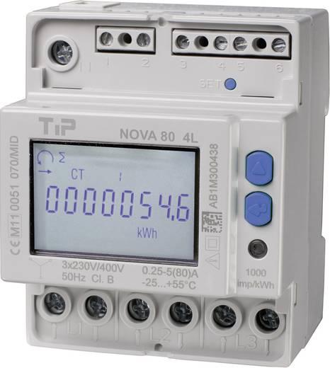 TIP NOVA 80 MID - 4L kWh-meter 3-fasen Digitaal 80 A Conform MID: Ja