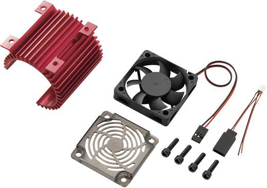 Motor-ventilator en koellichaam