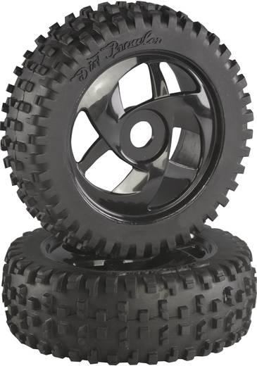 Absima 1:8 Buggy Complete wielen Block-Spike Twister Zwart 2 stuks