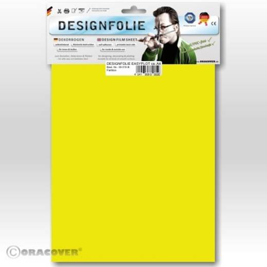 Oracover Easyplot 80-035-B Designfolie (l x b) 300 mm x 208 mm Transparant geel (fluorescerend)