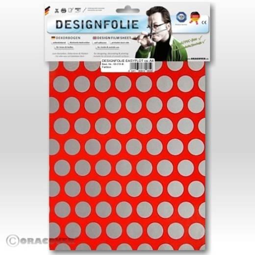Oracover Easyplot Fun 1 90-021-091-B Designfolie (l x b) 300 mm x 208 mm Rood-zilver (fluorescerend)