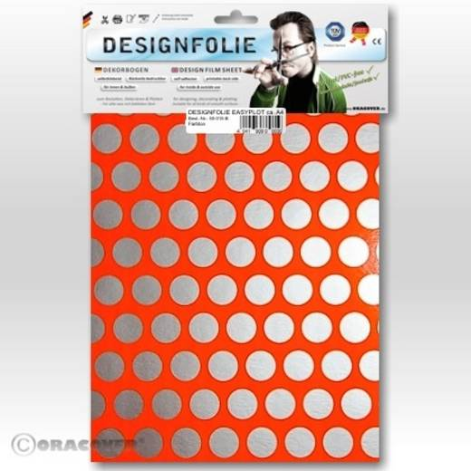 Oracover Easyplot Fun 1 90-064-091-B Designfolie (l x b) 300 m x 208 cm Rood-oranje-zilver (fluorescerend)