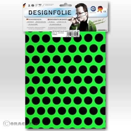 Oracover Easyplot Fun 1 90-041-071-B Designfolie (l x b) 300 mm x 208 mm Groen-zwart (fluorescerend)