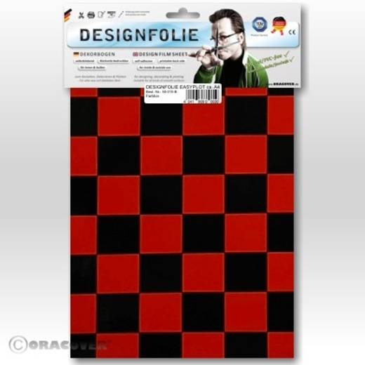 Oracover Easyplot Fun 3 87-023-071-B Designfolie (l x b) 300 mm x 208 mm Rood/zwart