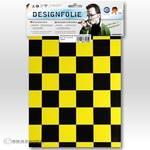 Designfolie - EASYPLOT FUN 3, ca. A4 parelmoer geel - zwart
