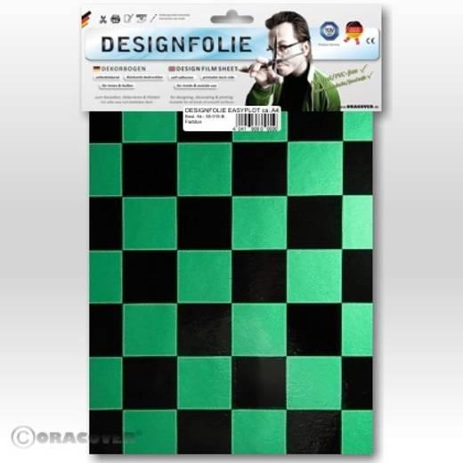 Oracover Easyplot Fun 3 87-047-071-B Designfolie (l x b) 300 mm x 208 mm Parelmoer groen-zwart