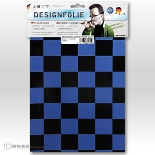 Oracover Easyplot Fun 3 87-057-071-B Designfolie (l x b) 300 mm x 208 mm Parelmoer blauw-zwart