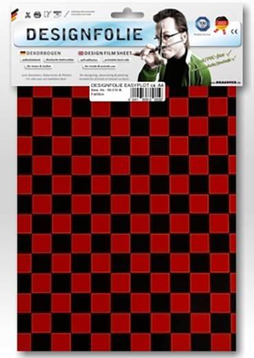Oracover Easyplot Fun 4 95-023-071-B Designfolie (l x b) 300 mm x 208 mm Rood/zwart