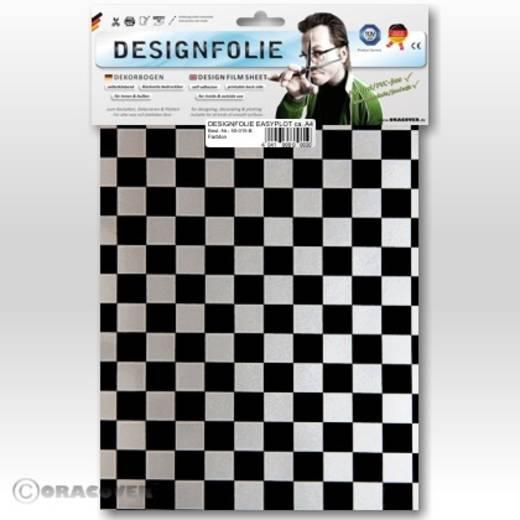 Oracover Easyplot Fun 4 95-091-071-B Designfolie (l x b) 300 mm x 208 cm Zilver-zwart