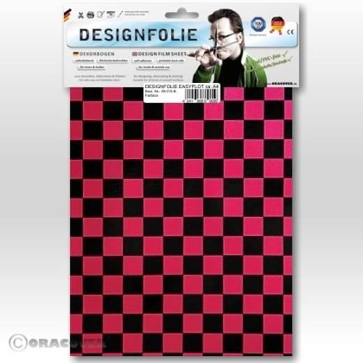 Oracover Easyplot Fun 4 95-027-071-B Designfolie (l x b) 300 mm x 208 mm Parelmoer rood-zwart