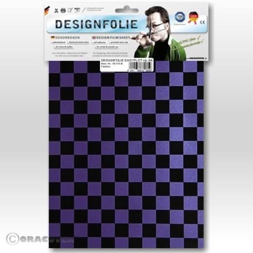 Oracover Easyplot Fun 4 95-056-071-B Designfolie (l x b) 300 mm x 208 cm Parelmoer lila-zwart
