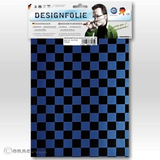 Oracover Easyplot Fun 4 95-057-071-B Designfolie (l x b) 300 mm x 208 mm Parelmoer blauw-zwart