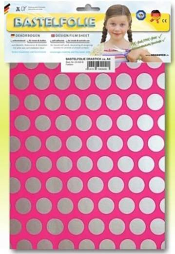 Oracover Orastick Fun 1 45-014-091-B Plakfolie (l x b) 300 mm x 208 mm Neon-roze-zilver (fluorescerend)