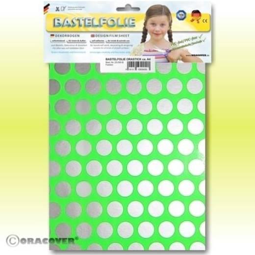 Oracover Orastick Fun 1 45-041-091-B Plakfolie (l x b) 300 mm x 208 mm Groend-zilver (fluorescerend)