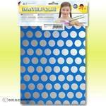 Knutselfolie - ORASTICK FUN 1, ca. A4 fluor. blauw - zilver