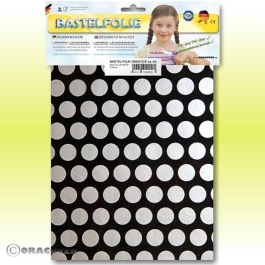 Oracover Orastick Fun 1 45-071-091-B Plakfolie (l x b) 300 mm x 208 mm Zwart-zilver